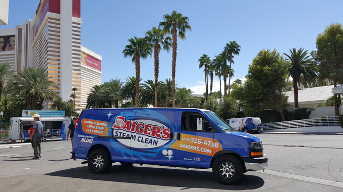 saigers steam clean professionals at a cleaning convention in Las Vegas